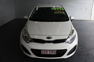 2012 Kia Rio UB MY12 S White 6 Speed Manual Hatchback Parramatta Park Cairns City Preview