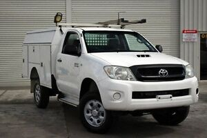 2009 Toyota Hilux KUN26R MY10 SR White 4 Speed Automatic Cab Chassis Seaford Frankston Area Preview