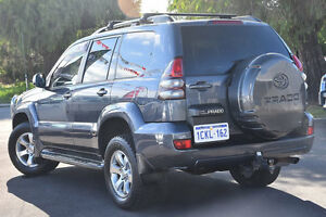2007 Toyota Landcruiser Prado GRJ120R Grande Charcoal Grey 5 Speed Automatic Wagon Glendalough Stirling Area Preview