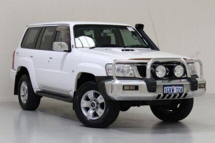 2004 Nissan Patrol GU IV ST (4x4) White 5 Speed Manual Wagon