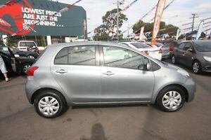 2008 Toyota Yaris NCP90R MY09 YR Grey 4 Speed Automatic Hatchback Kingsville Maribyrnong Area Preview