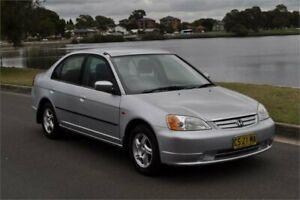 2001 Honda Civic 7th Gen GLi Silver 4 Speed Automatic Sedan Five Dock Canada Bay Area Preview