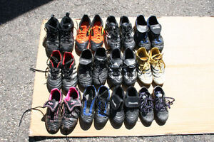 12 pairs kids, boys, girls soccer shoes. Sizes 12-6