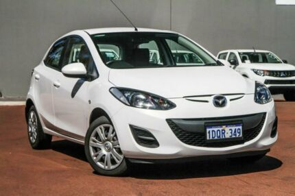 2011 Mazda 2 DE10Y1 MY10 Neo White 5 Speed Manual Hatchback Cannington Canning Area Preview