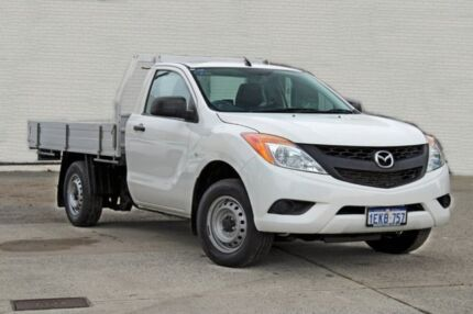 2013 Mazda BT-50 UP0YD1 XT 4x2 White 6 Speed Manual Cab Chassis Midland Swan Area Preview