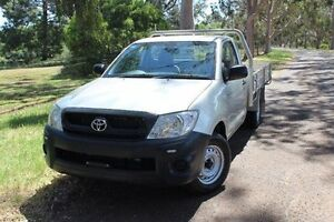 2010 Toyota Hilux TGN16R MY10 Workmate Silver 4 Speed Automatic Cab Chassis Hawthorn Mitcham Area Preview