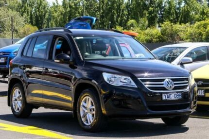 2010 Volkswagen Tiguan 5N MY10 103TDI 4MOTION Black 6 Speed Sports Automatic Wagon Ringwood East Maroondah Area Preview