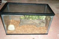 10 gallon reptile terr. with accessories for sale