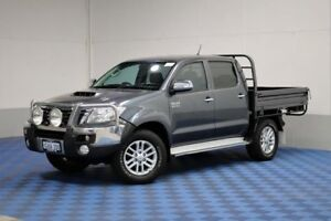 2013 Toyota Hilux KUN26R MY12 SR5 (4x4) Graphite 4 Speed Automatic