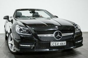 2012 Mercedes-Benz SLK350 R172 BlueEFFICIENCY 7G-Tronic + Black 7 Speed Sports Automatic Roadster Rozelle Leichhardt Area Preview