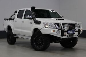 2013 Toyota Hilux KUN26R MY14 SR5 (4x4) White 5 Speed Manual Dual Cab Pick-up Bentley Canning Area Preview
