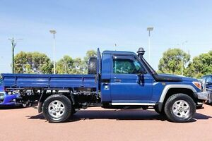 2014 Toyota Landcruiser VDJ79R MY13 GXL Midnight Blue 5 Speed Manual Cab Chassis Wangara Wanneroo Area Preview