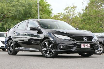 2017 Honda Civic 10th Gen MY17 RS Crystal Black 1 Speed Constant Variable Sedan Indooroopilly Brisbane South West Preview