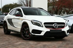2014 Mercedes-Benz GLA 45 AMG 4MATIC X156 AMG SPEEDSHIFT DCT 4MATIC White 7 Speed Osborne Park Stirling Area Preview