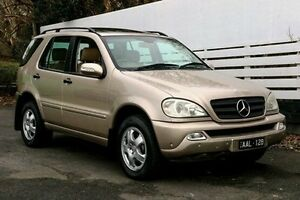 2005 Mercedes-Benz ML350 W163 MY04 Luxury Beige 5 Speed Sports Automatic Wagon Ringwood Maroondah Area Preview
