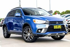 2018 Mitsubishi ASX XC MY18 LS 2WD Lightning Blue 6 Speed Constant Variable Wagon
