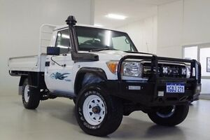 2010 Toyota Landcruiser VDJ79R MY10 GXL White 5 Speed Manual Cab Chassis Myaree Melville Area Preview