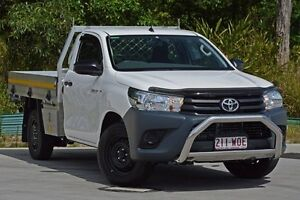 2016 Toyota Hilux TGN121R Workmate White 6 Speed Sports Automatic Cab Chassis Aspley Brisbane North East Preview