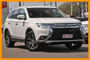 2016 Mitsubishi Outlander ZK MY16 Exceed 4WD White 6 Speed Constant Variable Wagon Mount Gravatt Brisbane South East Preview