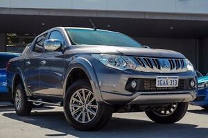 2016 Mitsubishi Triton MQ MY17 GLS Double Cab Grey 5 Speed Sports Automatic Utility Pearsall Wanneroo Area Preview