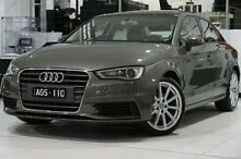 2015 Audi A3 8V MY16 Attraction S tronic Grey 7 Speed Sports Automatic Dual Clutch Sedan North Melbourne Melbourne City Preview