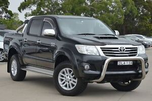 2013 Toyota Hilux KUN26R MY12 SR5 (4x4) Black 5 Speed Manual Dual Cab Pick-up Greenacre Bankstown Area Preview