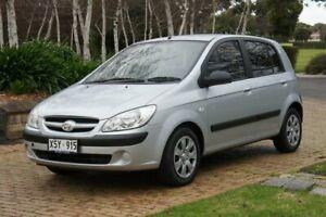 2008 Hyundai Getz TB Upgrade SX Silver Ash 4 Speed Automatic Hatchback Blair Athol Port Adelaide Area Preview