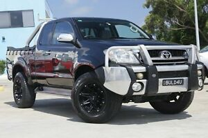 2008 Toyota Hilux GGN25R MY09 SR5 Xtra Cab Black 5 Speed Manual Utility Gymea Sutherland Area Preview