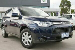 2013 Mitsubishi Outlander ZJ MY13 ES 4WD Blue 6 Speed Constant Variable Wagon Nunawading Whitehorse Area Preview