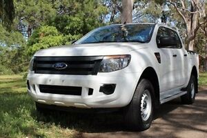 2013 Ford Ranger PX XL Double Cab 4x2 Hi-Rider White 6 Speed Sports Automatic Utility Hawthorn Mitcham Area Preview
