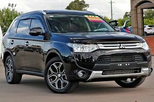 2014 Mitsubishi Outlander ZJ MY14.5 Aspire 4WD Black 6 Speed Sports Automatic Wagon McGraths Hill Hawkesbury Area Preview