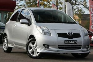 2006 Toyota Yaris NCP91R 06 Upgrade YRX Silver 5 Speed Manual Hatchback Waitara Hornsby Area Preview