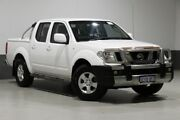 2011 Nissan Navara D40 ST (4x4) White 5 Speed Automatic Dual Cab Pick-up Bentley Canning Area Preview