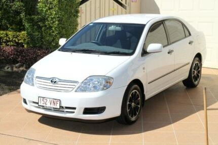 2006 Toyota Corolla ZZE122R 5Y Ascent Alpine White 4 Speed Automatic Sedan Bundall Gold Coast City Preview