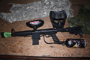 BT OMEGA WORKS Paintball package, Cool gun with air tank mask, Kingston Kingston Area image 6