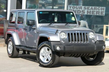 2015 Jeep Wrangler Unlimited JK MY15 Freedom (4x4) Billet Silver 5 Speed Automatic Softtop Brookvale Manly Area Preview