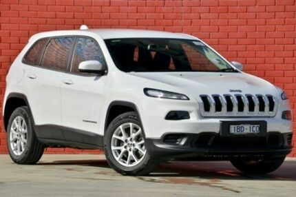 2015 Jeep Cherokee KL MY15 Sport White 9 Speed Auto Seq Sportshift Wagon Pakenham Cardinia Area Preview