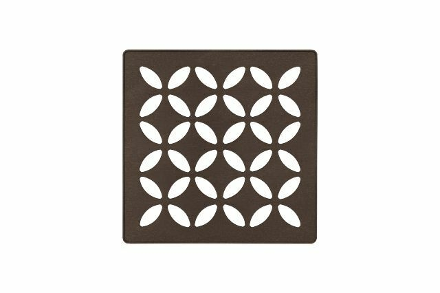Schluter Systems Kerdi-Drain Grate 4-in Bronze Floral KDIF4GRKTSOBD5