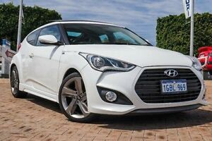 2014 Hyundai Veloster FS4 Series II SR Coupe Turbo White 6 Speed Manual Hatchback Embleton Bayswater Area Preview