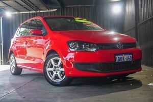 2010 Volkswagen Polo 6R 77TSI DSG Comfortline Red 7 Speed Sports Automatic Dual Clutch Hatchback Wangara Wanneroo Area Preview