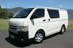 2015 Toyota Hiace KDH201R Crewvan LWB White 5 Speed Manual Van Derwent Park Glenorchy Area Preview