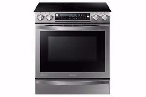 "30"" electric oven induction & convection Stainless Samsung NEW!"
