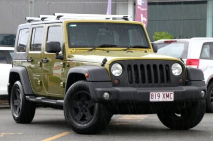 2007 Jeep Wrangler JK Unlimited Sport Green 5 Speed Automatic Softtop Wavell Heights Brisbane North East Preview