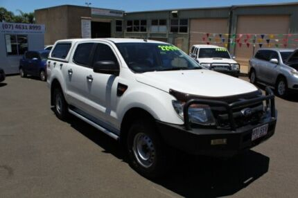 2012 Ford Ranger PX XL Double Cab White 6 Speed Manual Utility Toowoomba Toowoomba City Preview