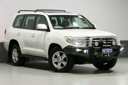 2008 Toyota Landcruiser UZJ200R Sahara (4x4) Pearl White 5 Speed Automatic Wagon Bentley Canning Area Preview