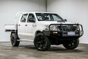 2012 Toyota Hilux KUN16R MY12 SR Double Cab White 5 Speed Manual Utility Welshpool Canning Area Preview