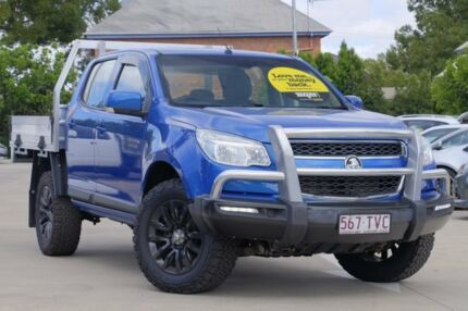 2014 Holden Colorado RG MY14 LX Crew Cab Blue 6 Speed Manual Cab Chassis Toowoomba Toowoomba City Preview