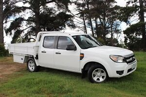 2010 Ford Ranger PK XL (4x2) White 5 Speed Automatic Dual Cab Pick-up Beaconsfield Cardinia Area Preview