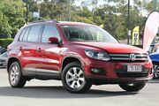 2012 Volkswagen Tiguan 5N MY13 132TSI Tiptronic 4MOTION Pacific Wild Cherry Red 6 Speed Indooroopilly Brisbane South West Preview