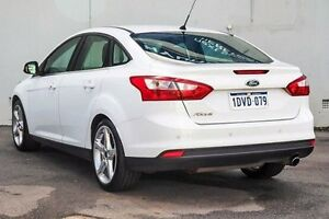 2011 Ford Focus LW Titanium PwrShift White 6 Speed Sports Automatic Dual Clutch Sedan Myaree Melville Area Preview